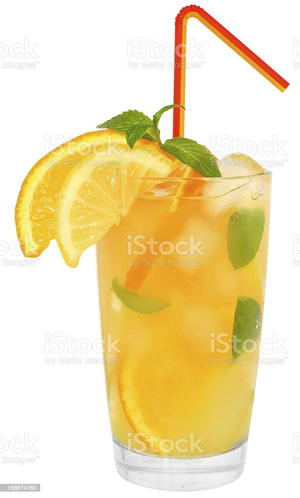 Tangerine and lemon juice royalty-free stock photo