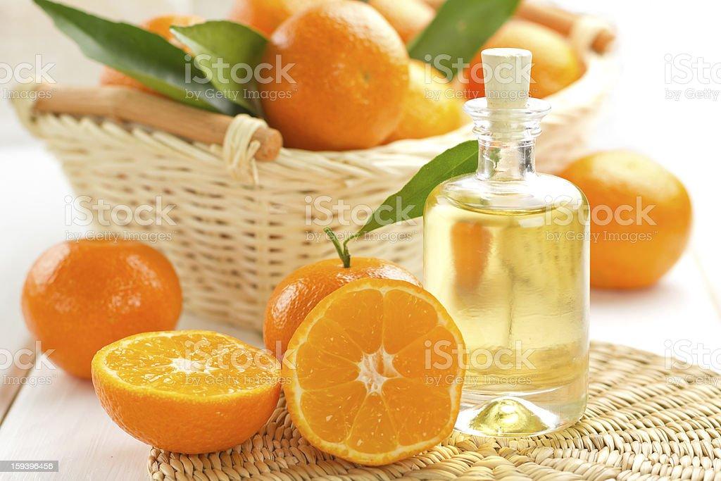Tangerine essential oil royalty-free stock photo