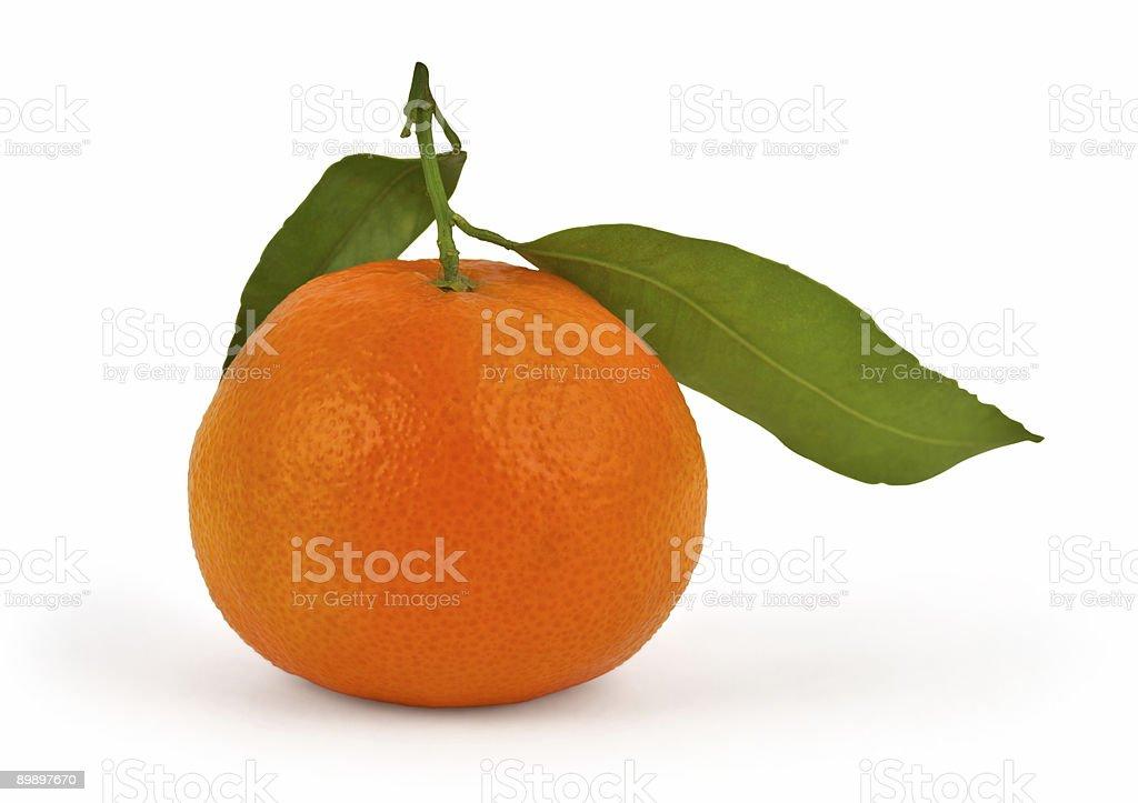 Tangerine isolated on white royalty-free stock photo