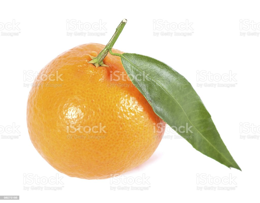 Tangerine isolated on white royalty-free stock photo