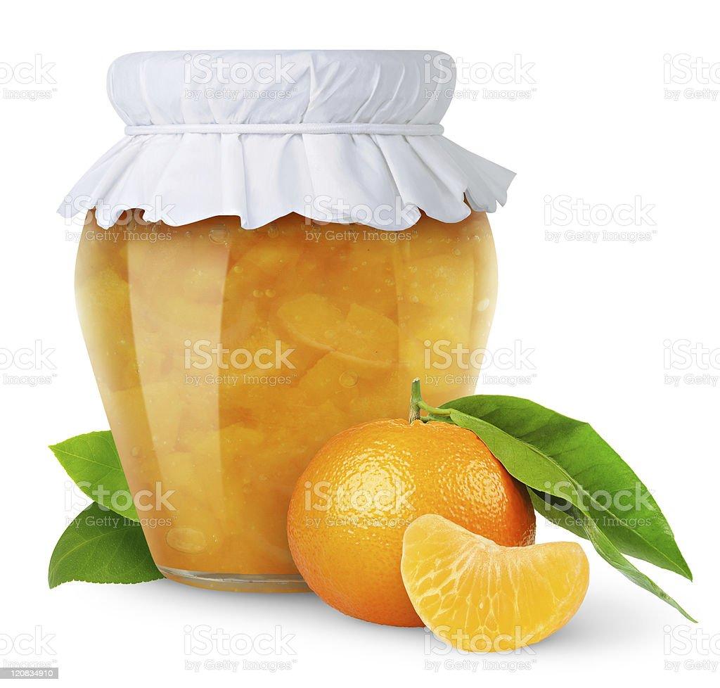 Tangerine jam royalty-free stock photo