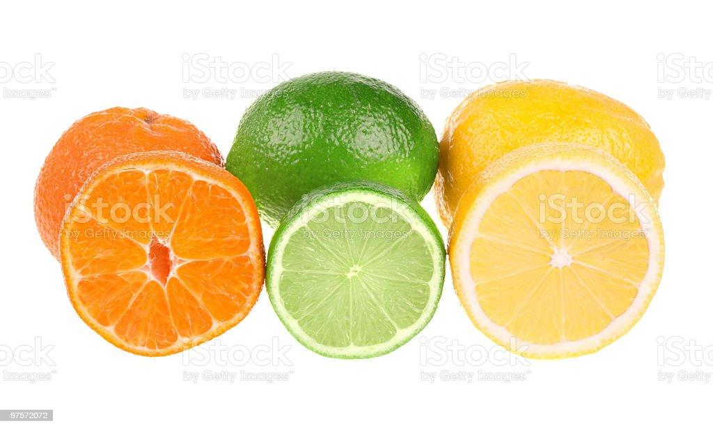 Clémentine, citron vert et citron photo libre de droits