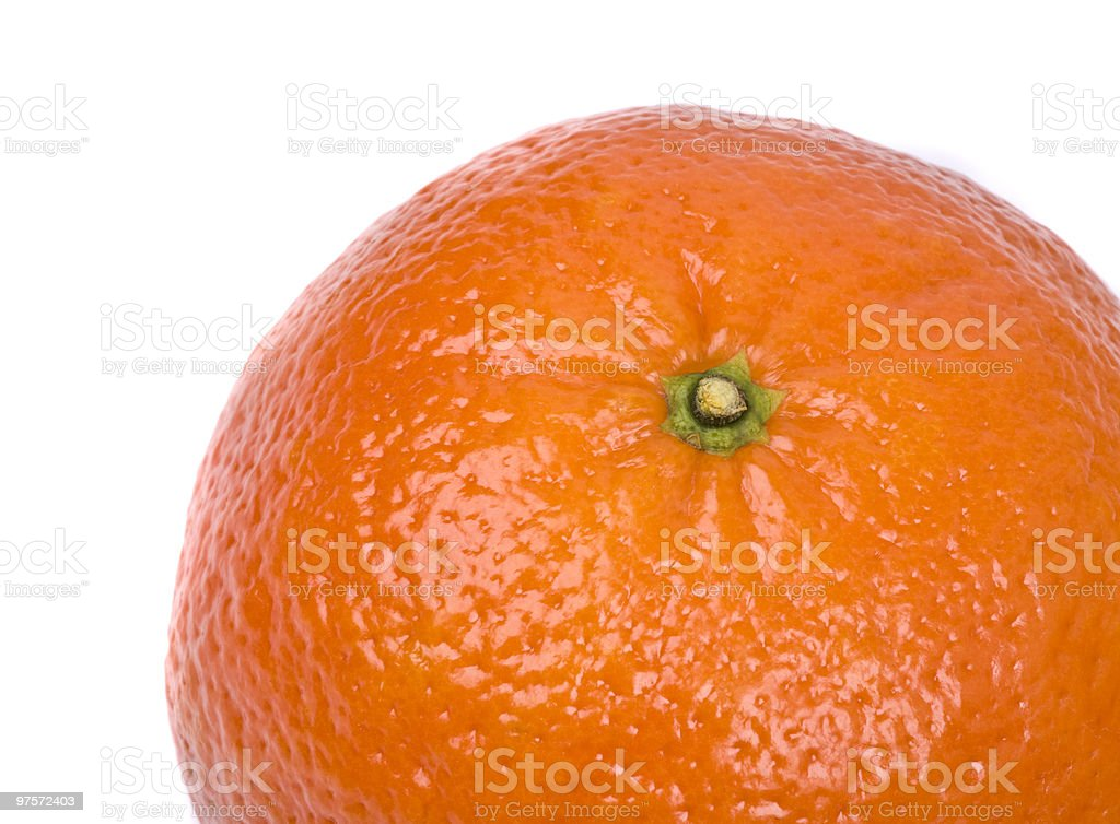 Tangerine on a white background royalty-free stock photo