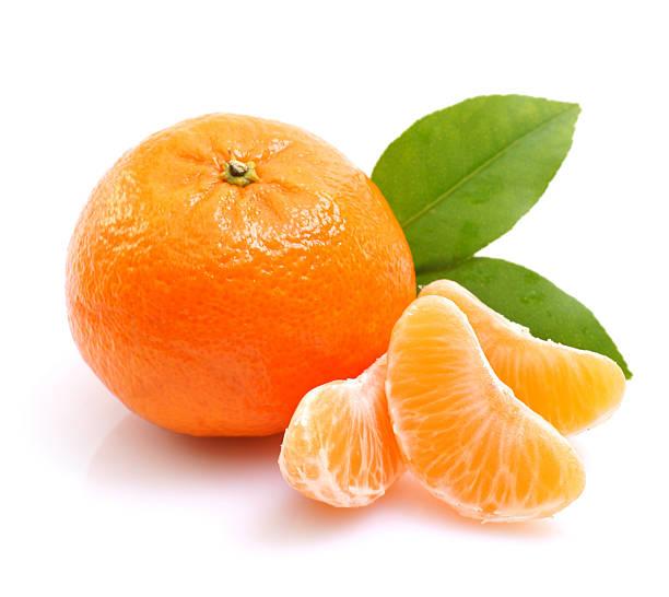 Tangerine on white ground Fresh tangerine on white ground tangerine stock pictures, royalty-free photos & images