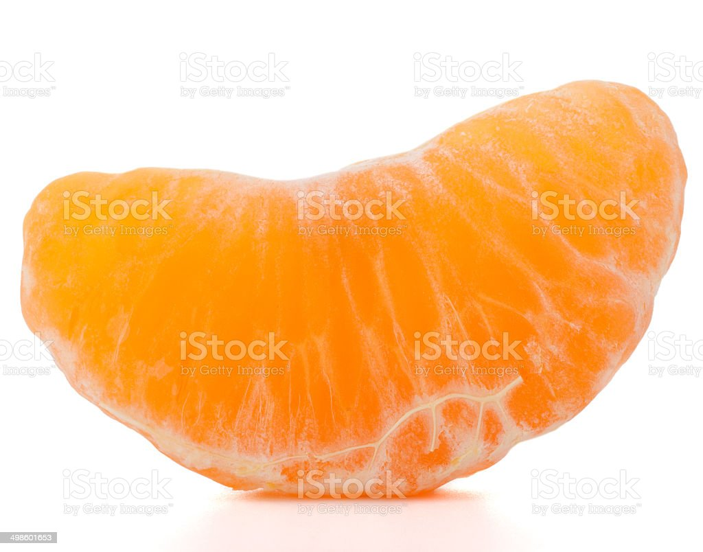 tangerine or mandarin fruit part stock photo