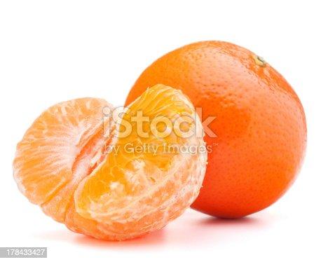 tangerine or mandarin fruit  on white background
