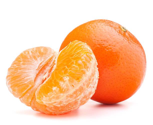 tangerine or mandarin fruit tangerine or mandarin fruit  on white background tangerine stock pictures, royalty-free photos & images