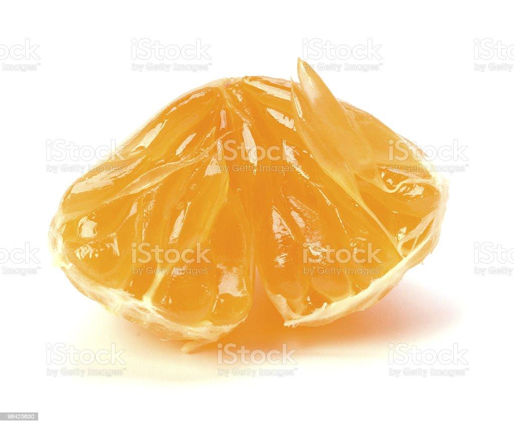 Mandarino segmento foto stock royalty-free