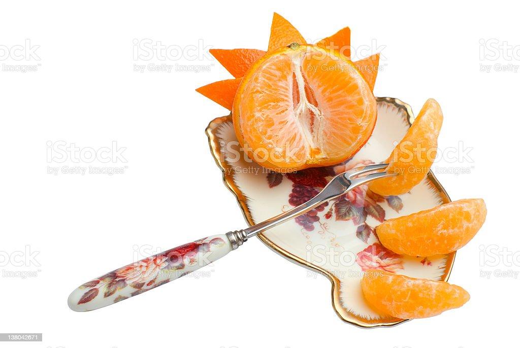 Tangerine segments | Isolated stock photo