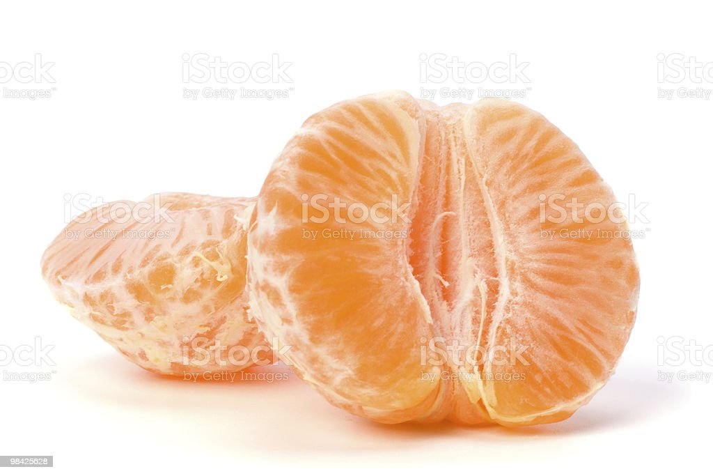 Tangerine segments royalty-free stock photo