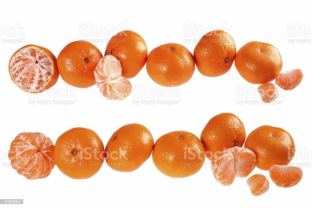Tangerine set royalty-free stock photo