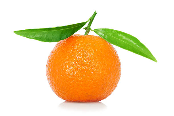 Tangerine con hojas - foto de stock