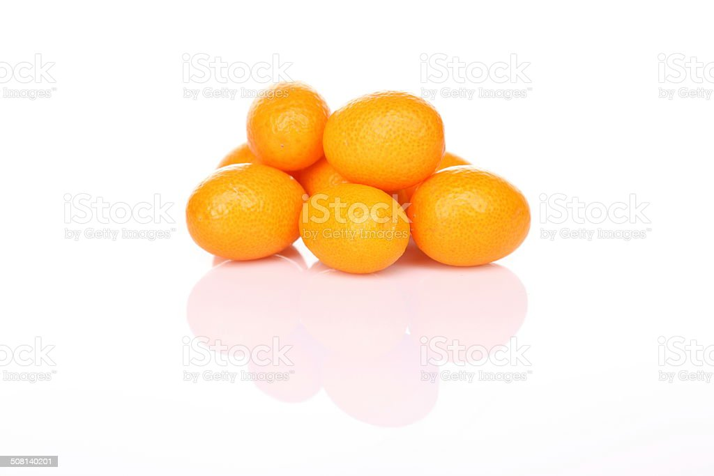 Tangerine with shadow stock photo