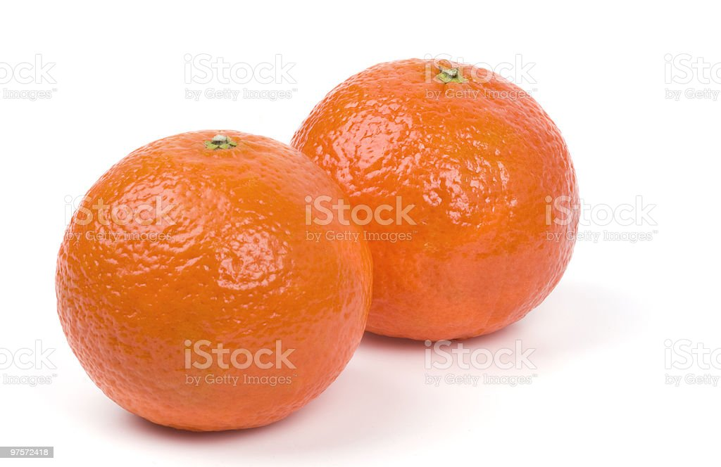 Tangerines sur fond blanc photo libre de droits