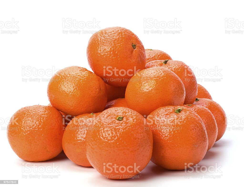 tangerines over white background royalty-free stock photo