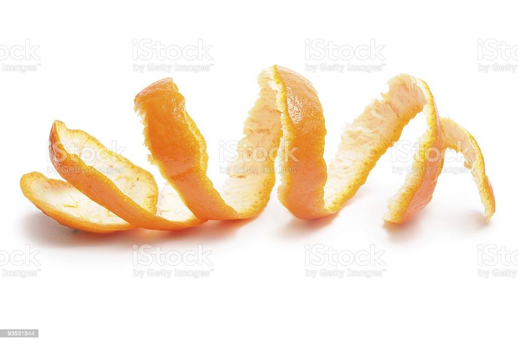 Tangerines peel stock photo