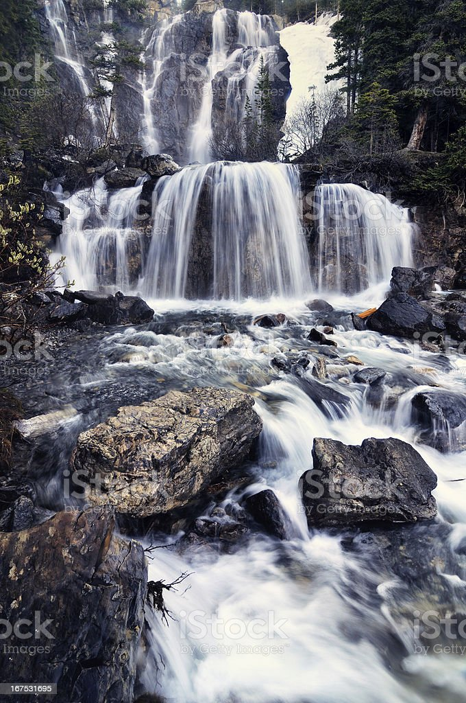 Tangle Falls Waterfall in forest stock photo