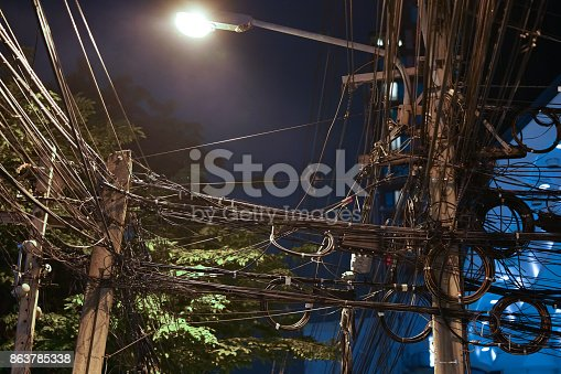 Wires tangled dangerous, May cause a short circuit.