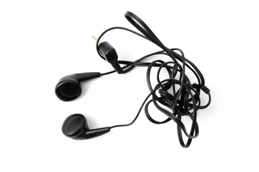 Tangled Earphones Stock Photo - Download Image Now