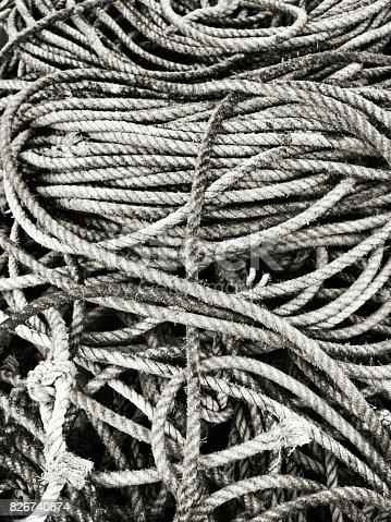 501889762istockphoto Tangled Fishing rope 826740874