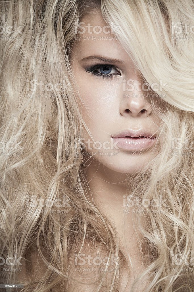 Tangled hair royalty-free stock photo