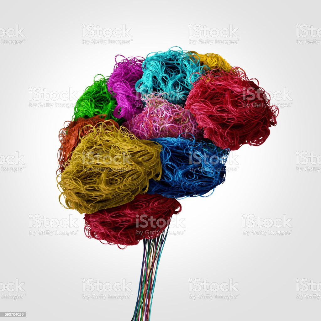 Tangled Human Brain Concept stock photo