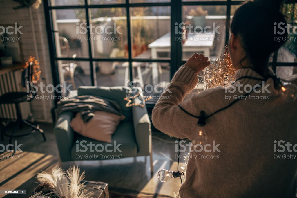 Wirren in Weihnachtsbeleuchtung – Foto