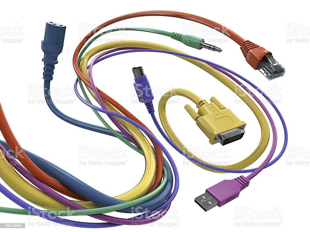 Verheddert Windung von computer Kabel – Foto