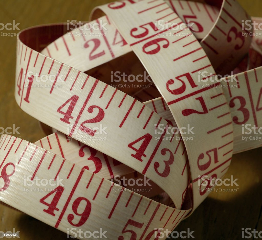 Tangled Tape Measure royalty-free stock photo