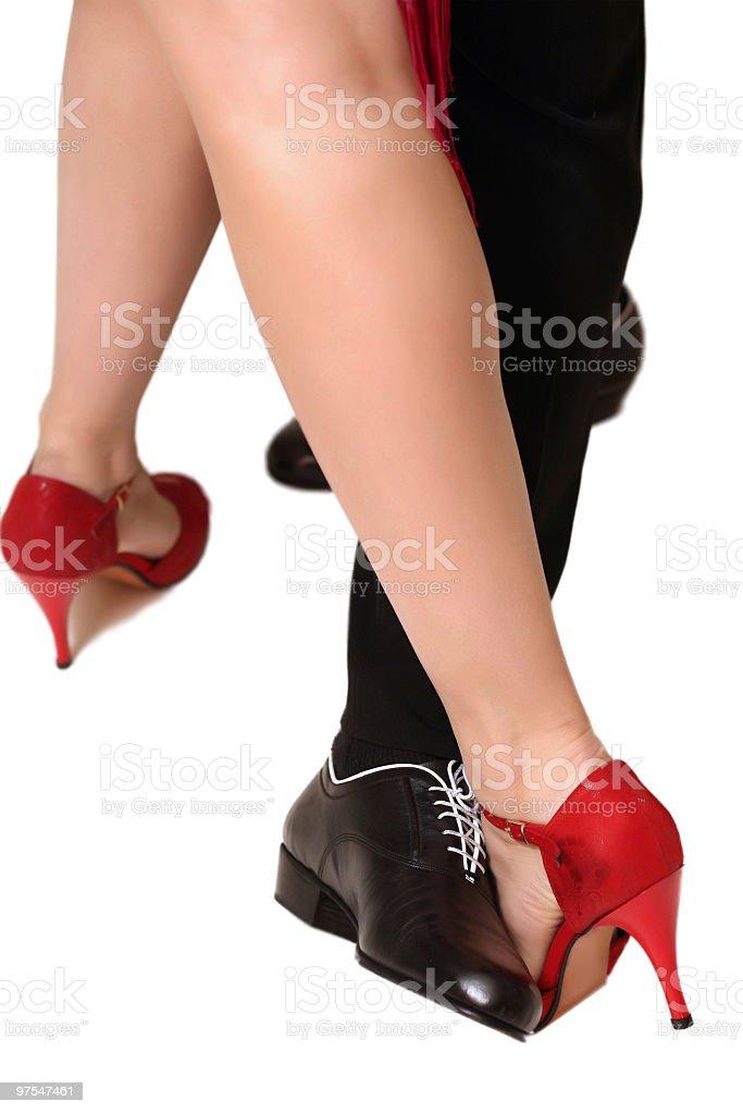 Tango à deux photo libre de droits