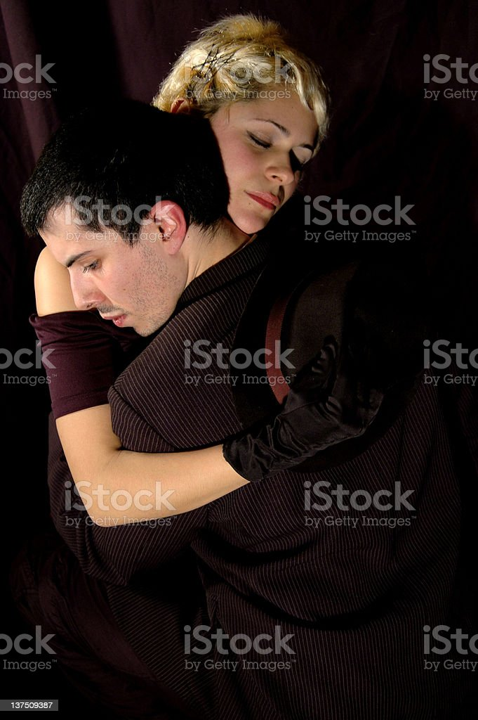 Tango dance holding royalty-free stock photo
