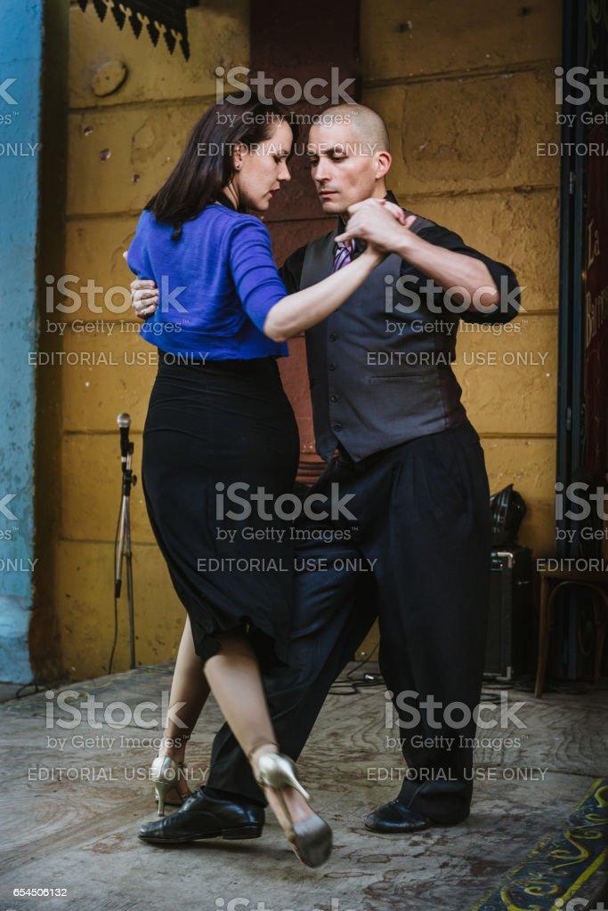 Tango Dancers Caminito La Boca Buenos Aires Argentina Stock