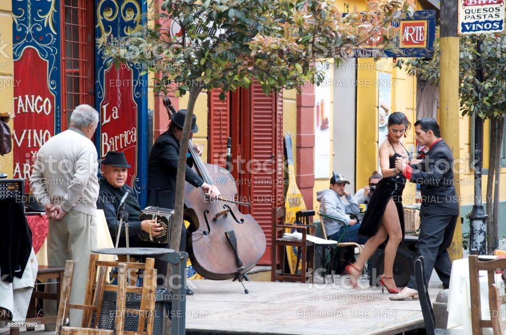 Tango Dancers in Caminito Argentina