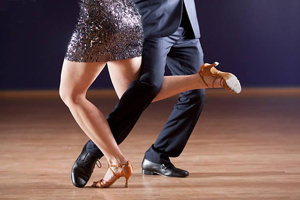 tango dancer's legs stock photo