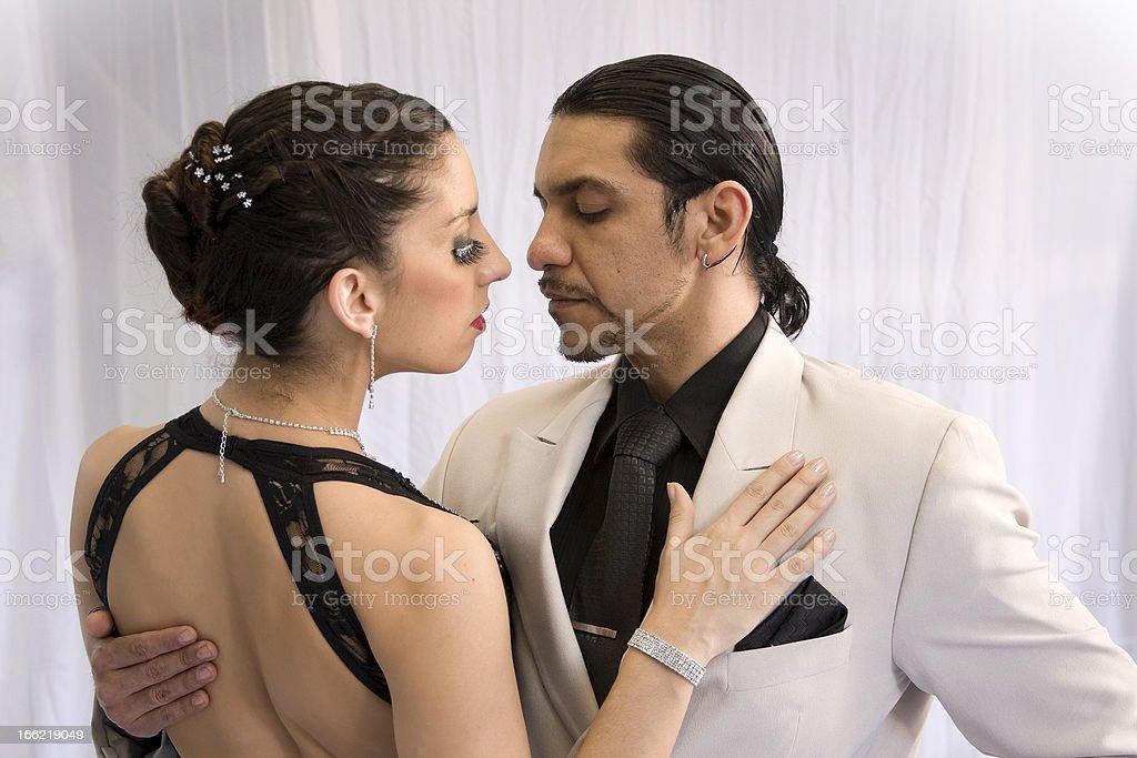 Tango Dancers on white royalty-free stock photo