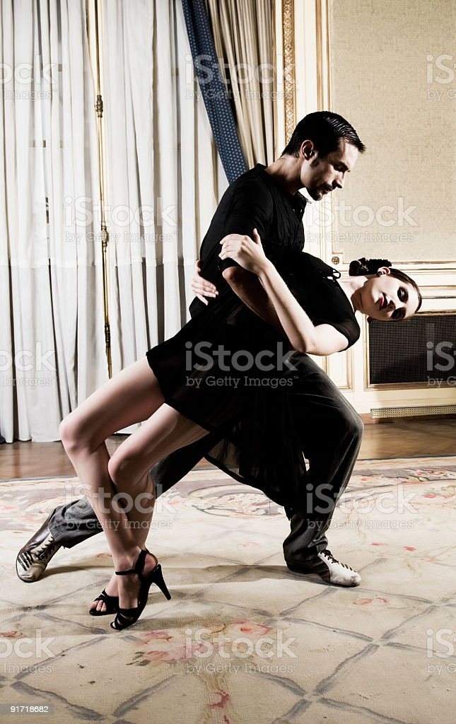 Tango Dancers royalty-free stock photo