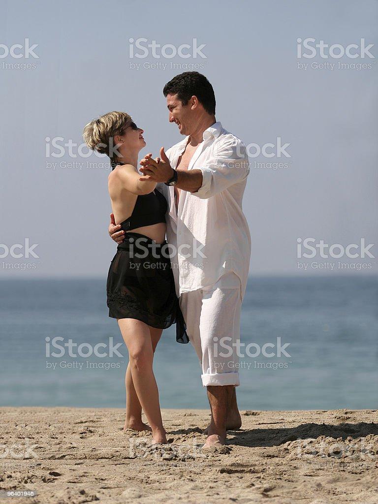 Tango on the beach - Royalty-free Adult Stock Photo