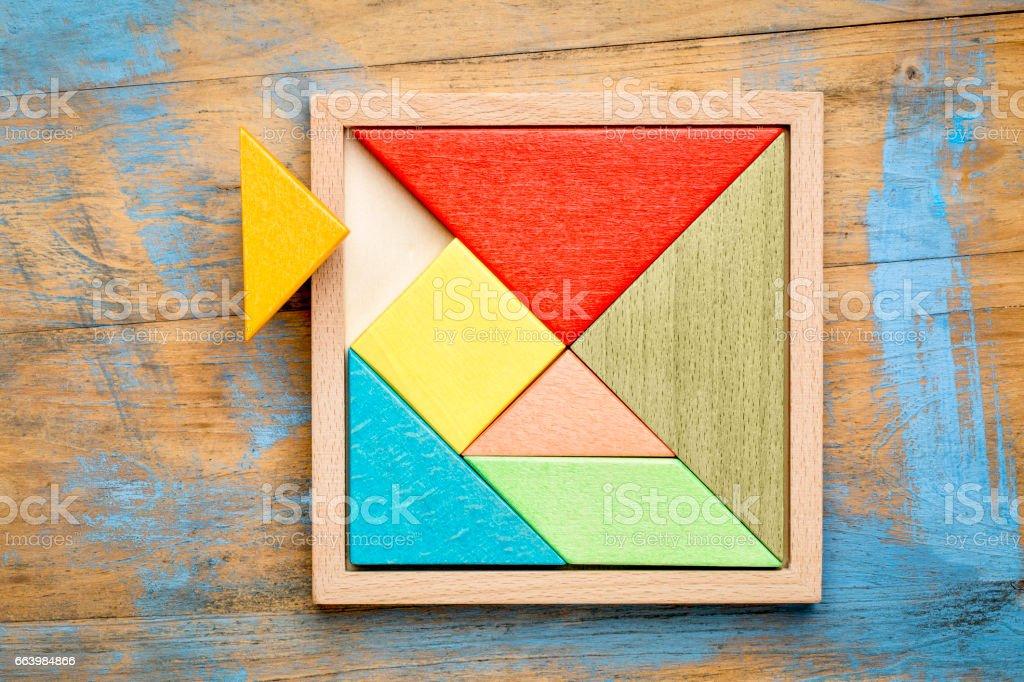 tangram - Chinese puzzle game stock photo