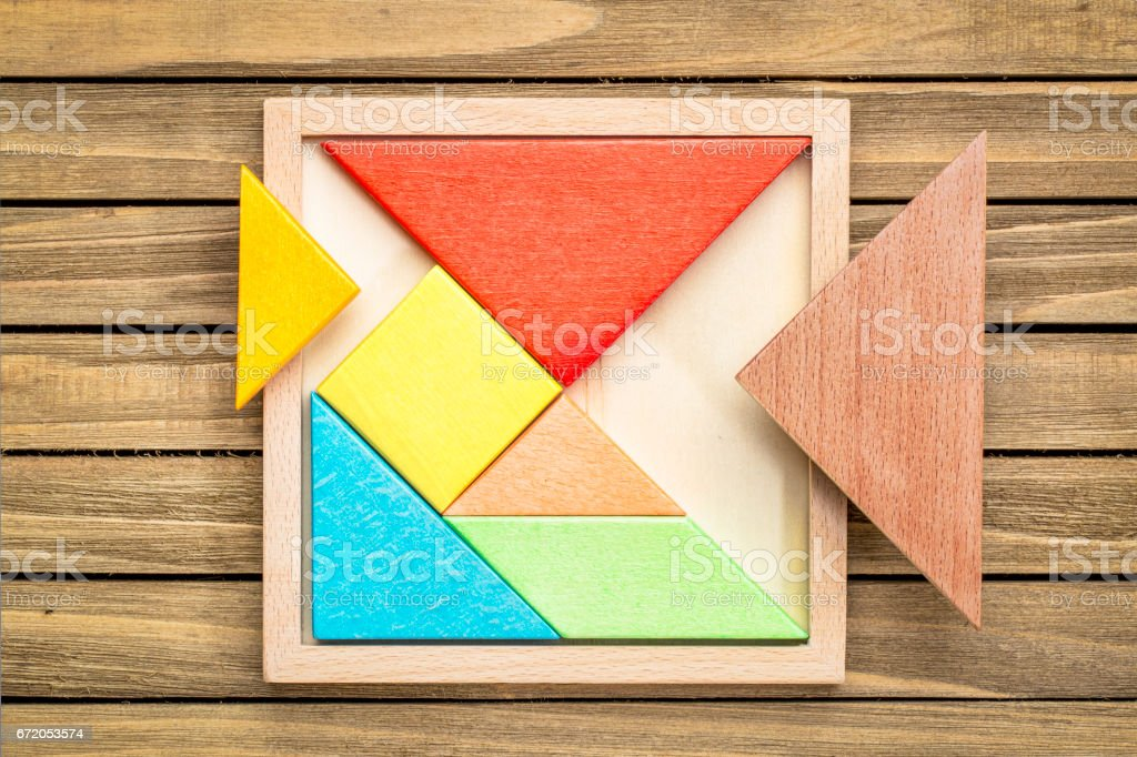 tangram - Chinese puzzle game stock photo
