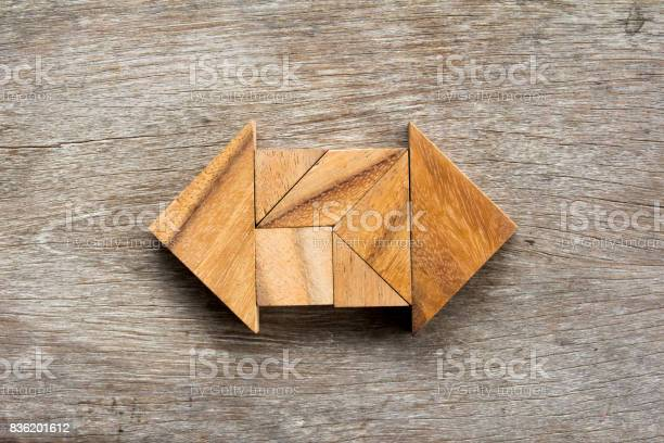 Tangram puzzle as two way arrow shape on wooden background picture id836201612?b=1&k=6&m=836201612&s=612x612&h=cilx0rq0hvvcuj os4xnczfczce6veayjk20fmr 5tm=