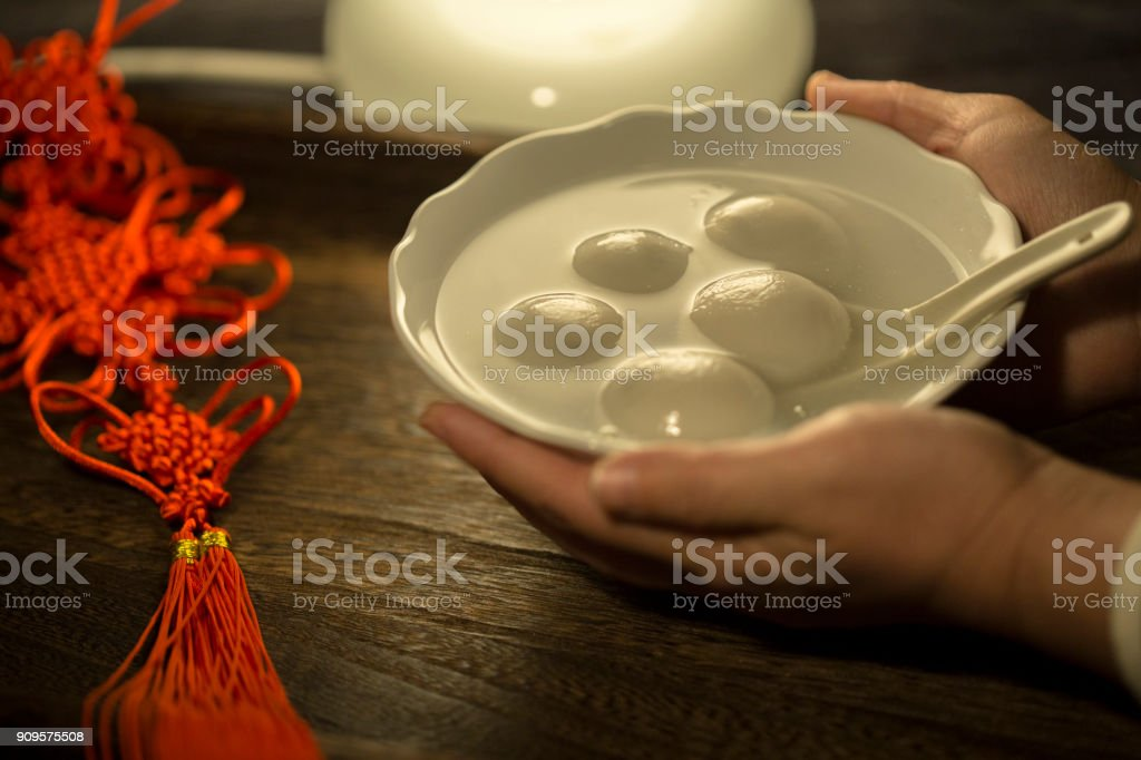 Tangyuan, to celebrate Chinese traditional lantern festival stock photo