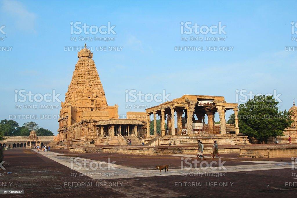 Tanjavur Brihadeshwara Temple,TamilNadu. India stock photo