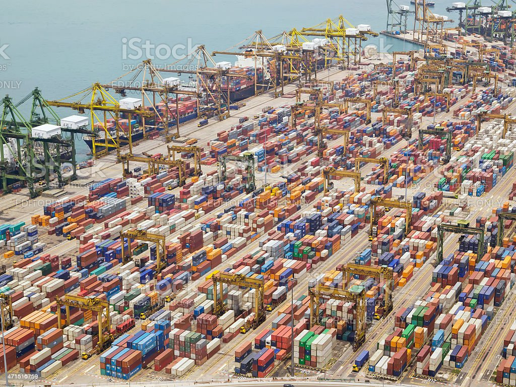 Tanjong Pagar Container Port stock photo