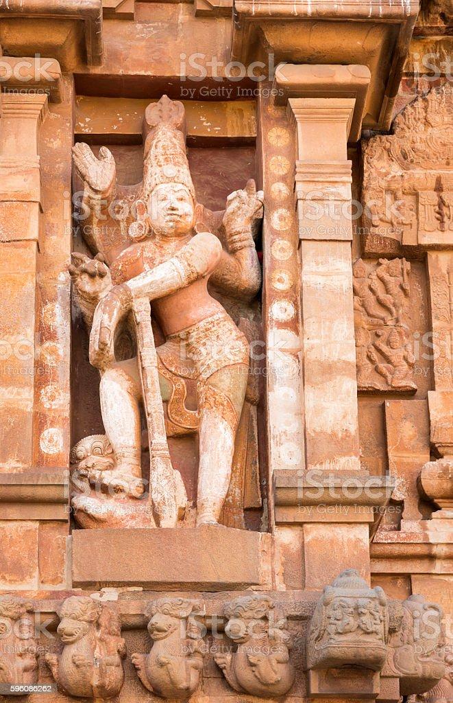 Tanjore temple Tami Nadu India royalty-free stock photo