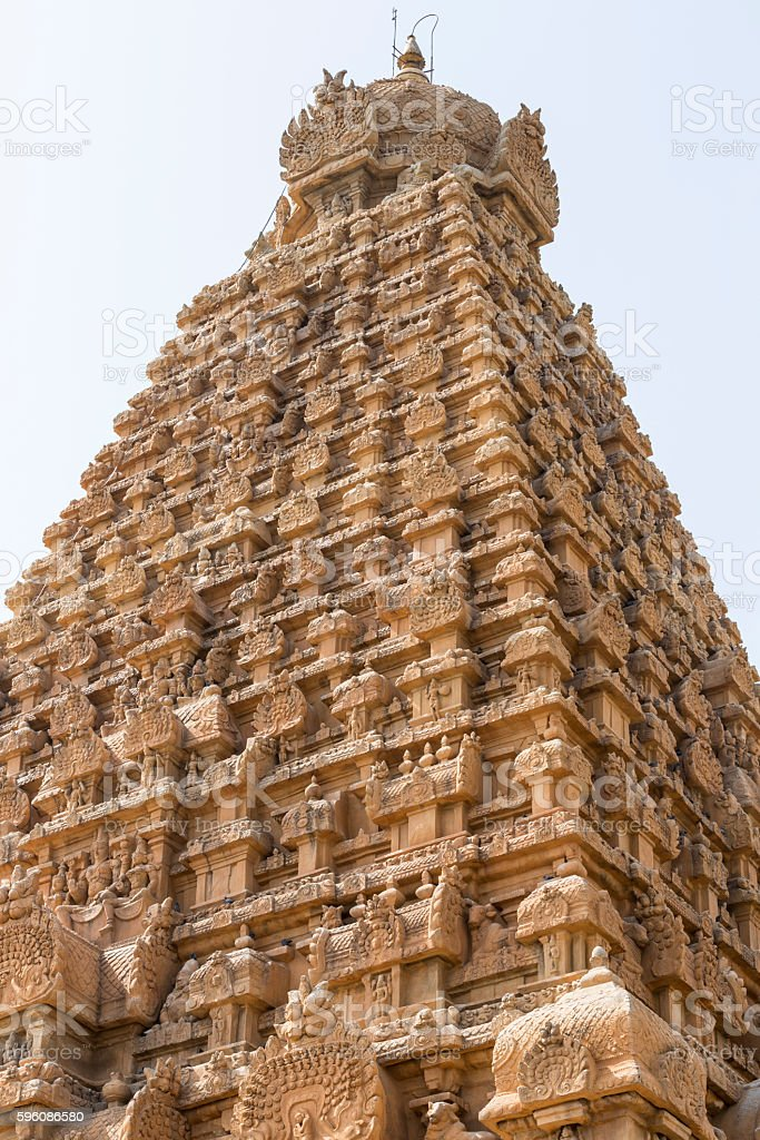 Tanjore temple Tami Nadu India royalty-free stock photo