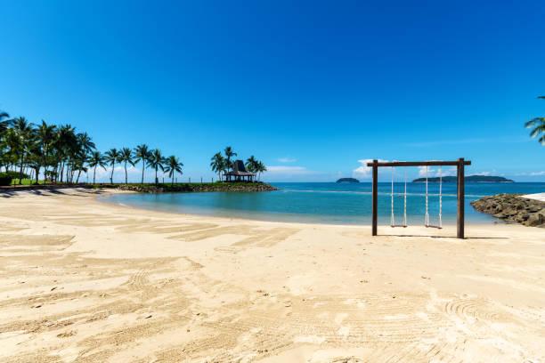 Tanjung Aru beach Kota Kinabalu Sabah Beach, Kota Kinabalu, travel, blue, Asia island of borneo stock pictures, royalty-free photos & images