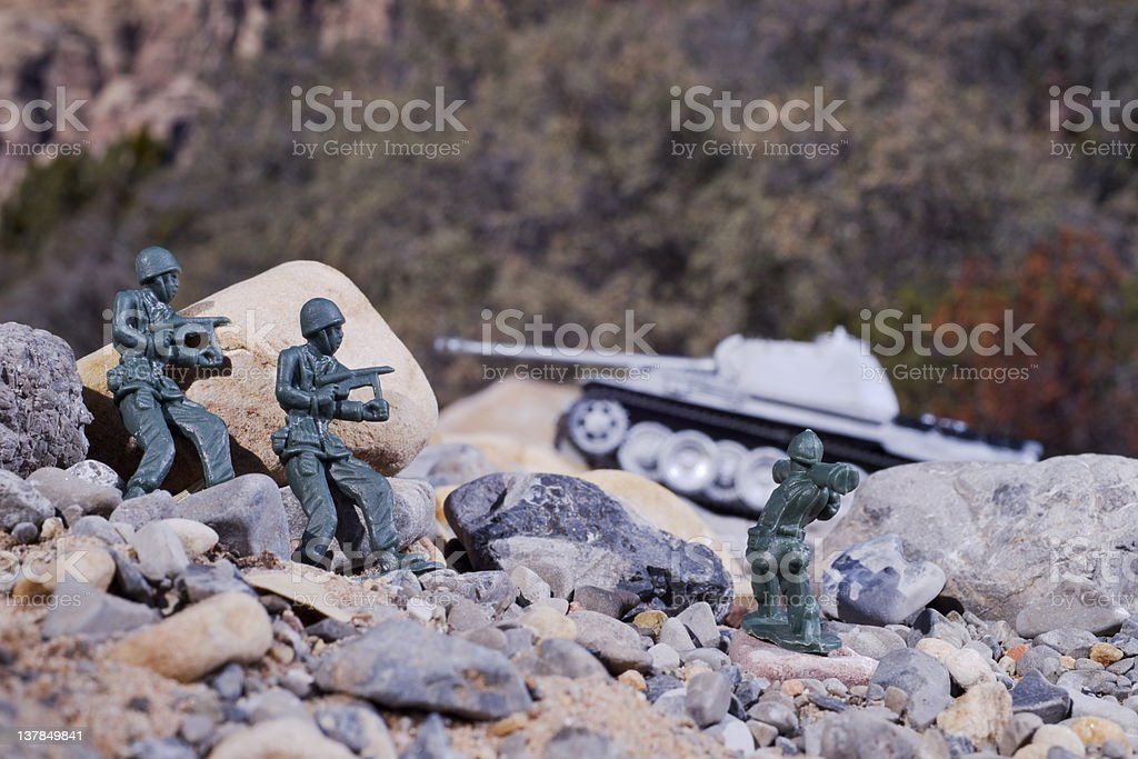 Tank Ambush royalty-free stock photo