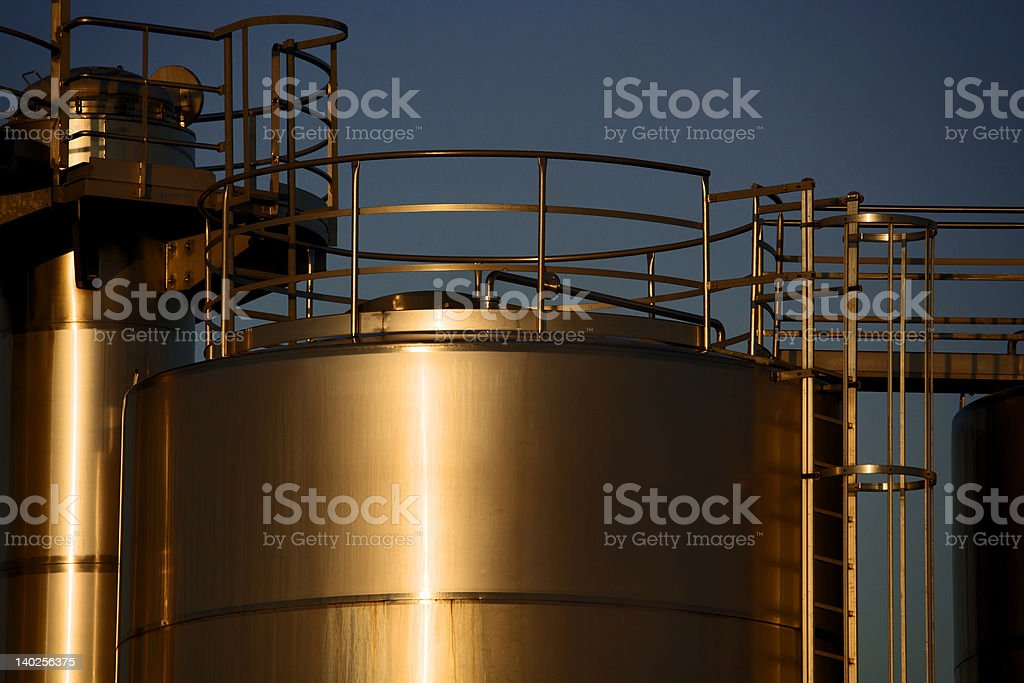 Tank and morning sun /2 royalty-free stock photo