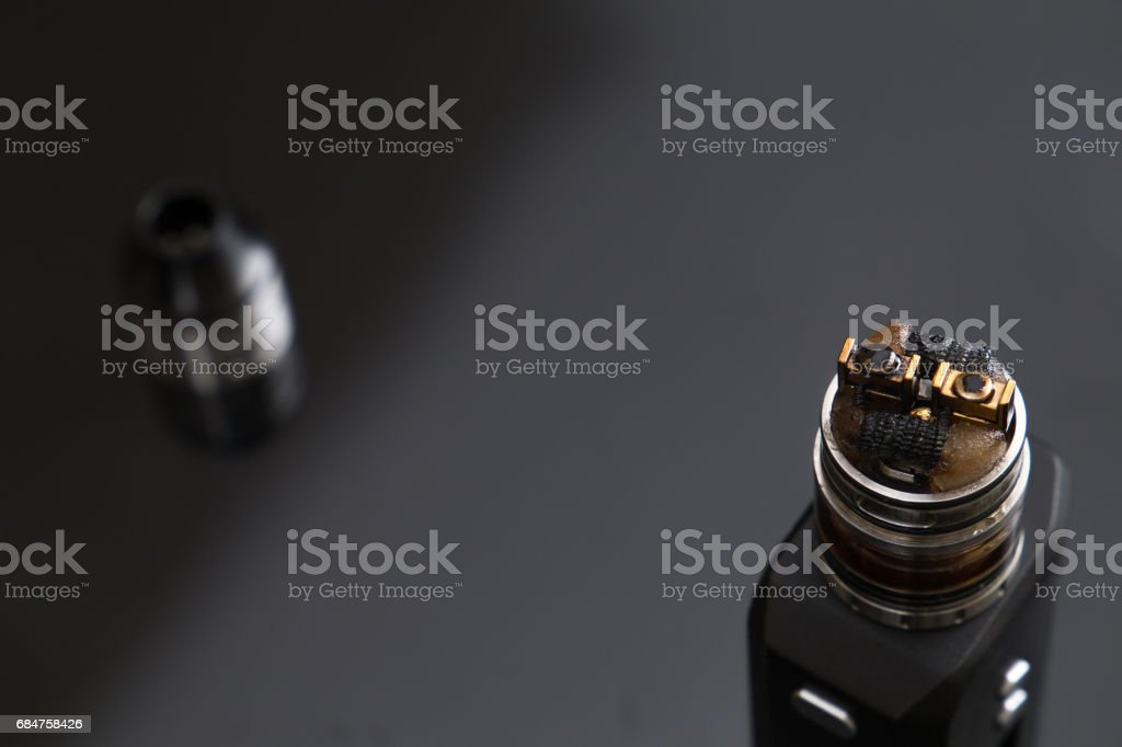 RDA Tank atomizer with head disassembled stock photo
