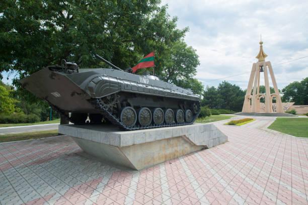 Eine Tank-Attraktion in Transnistrien. Tiraspol ist die Hauptstadt von Transnistrien – Foto
